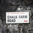 Stock Photo: London Street Sign - Chalk Farm Road