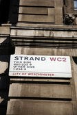 London Street Sign - Strand — Stock Photo
