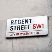 London Street Sign - Regent Street — Stock Photo