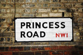 London Street Sign - Princess Road — Stock Photo