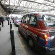 London Taxi at London Bridge Station — Stock Photo #14526731