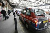 London Taxi at London Bridge Station — Stock Photo