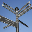 London Street Direction Sign Post — Stock Photo #14567849