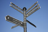 London Street Direction Sign Post — Stock Photo