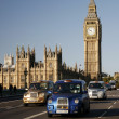London Taxi on Westminster Bridge — Stock Photo #14907741