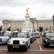 Stock Photo: London Taxis and Buckingham Palace