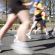 Marathon runners, motion blurred — Stock Photo