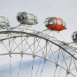 London Eye, Close up, Millennium Wheel - Stock Photo