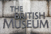 British Museum sign — Stock Photo