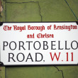 Stock Photo: London Street Sign, Portobello Road