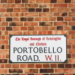 London Street Sign, Portobello Road — Stock Photo