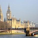 panoramę Londynu, Pałacu Westminsterskiego — Zdjęcie stockowe