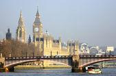 London skyline, Westminster Palace — Stock Photo