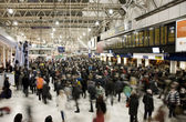 Inside view of London Waterloo Station — Stock Photo