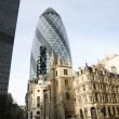 London Skyscraper, 30 St Mary Axe also called Gherkin — Stock Photo