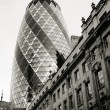 Stock Photo: London Skyscraper, 30 St Mary Axe also called Gherkin