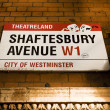 Stock Photo: London Street Sign, Shaftesbury Avenue
