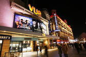 Night street view of Leicester Square — Stock Photo