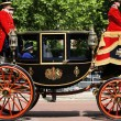 Stock Photo: Queen Elizabeth II on Royal Coach