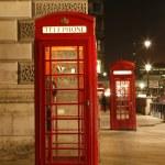 Londen rode telefooncel — Stockfoto