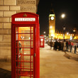 London röd telefonkiosk — Stockfoto