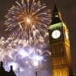 2013, Fireworks over Big Ben at midnight — Stock Photo #29369107