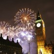 2013, Fireworks over Big Ben at midnight — Stock Photo #29369123
