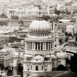 St Paul's Cathedral, Bird Eye View — ストック写真