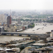 London skyline overlooking thames river — Stock Photo #36201141