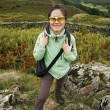 Woman hiking in Lake District — Stock Photo