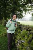 Woman hiking in Lake District — Stock Photo