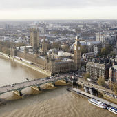 London skyline seen from London Eye — Stock Photo