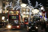 2013, Regent Street with Christmas Decoration — Stock Photo