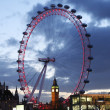 Постер, плакат: View of The London Eye with Big Ben