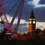 Big Ben through the London Eye — Stock Photo #45695287