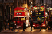 London Routemaster Bus at night — Stock Photo
