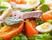 Taze et ve yumurta salatası — Stok fotoğraf