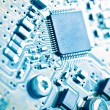 Computer electronic circuit board background — Stock Photo