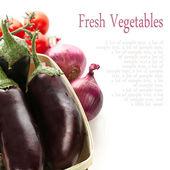 Fresh vegetables isolated on white background — Stock Photo