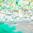 Foam bubbles abstract background — Zdjęcie stockowe
