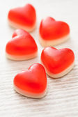 Red candy hearts — Stock Photo