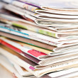 Stack of magazines — Stock Photo #45529991