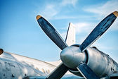 Airplane retro vintage propeller detail — Foto de Stock