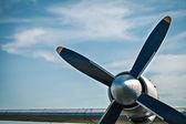 Airplane retro vintage propeller detail — Stok fotoğraf