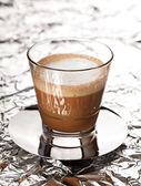 Cortado coffee drink in glass — Stock Photo