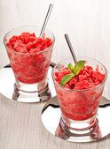 Fresh strawberry homemade sorbet — Stock Photo
