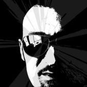 Homme portrait — Vecteur