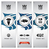 Fish banners — Stock Vector