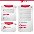 Login and register form — Stock Vector #32104593