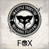 Sello alternativo fox — Vector de stock